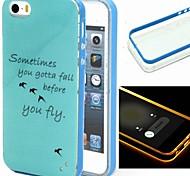 2-in-1 Vogelmuster tpu rückseitige Abdeckung mit pc Autostoßfest Hülle für iPhone 5 / 5s