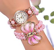 yilisha® donne oro rosa placcato strass quadrante rotondo grande tallone arco orologi bracciale doppio avvolgimento