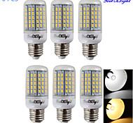 youoklight® 6pcs E14 / E27 5.5W 330lm CRI>80 3000k / 6000k 96 * SMD5730 llevó el bulbo de maíz ligero (AC110-120V / 220-240V)