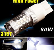 High Power 80W 3157 /3156 Super White Tail Brake Stop LED Lights Bulb Projector