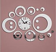 3D Acrylic Mirror Wall Clock Mirror Surface Three Colors