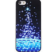 Christmas Style Stars Night Pattern PC Hard Back Cover for iPhone 5/5S