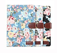Tablet PC Flower Floral Flip Wallet Case Cover With Stand Holder Card Bag for iPad Mini 4(Assored Colors)