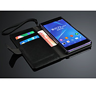 Mobile Phone Genuine Leather Case  for Sony Xperia Z2 L50W with card slots