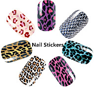 1pcs Leopard Nail Sticker