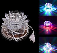 Rotating 8W 48-LED RGB Disco DJ Pub Club Party Crystal Lotus Lamp Stage Effect Light (AC85-240V)
