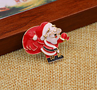 Santa Claus  Gift Christmas Brooch