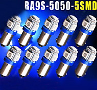 10PCS Ultra Blue T11 BA9S 5050 5-SMD Car LED light Bulbs Lamps T4W 3886X H6W 363