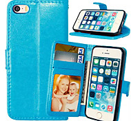 High quality PU leather wallet mobile phone holster Case For iPhone 5/5S(Assorted Color)