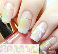 1 PCS  Glitter Nail Polish Pink Bow Full Stickers Stickers