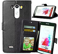 High Quality PU leather Wallet Mobile Phone Holster Case For LG G3/L90(Assorted Color)