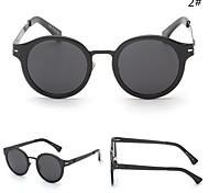 Women 's Mirrored  100% UV400 Round Sunglasses