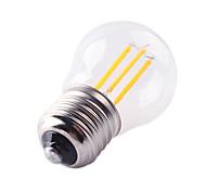1 pezzo HRY E26/E27 4W 4 LED ad alta intesità 400LM lm Bianco caldo / Luce fredda A60(A19) edison Vintage Lampadine LED a incandescenzaAC