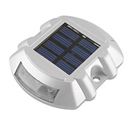 Aluminum Solar 6-LED Outdoor Road Driveway Dock Path Ground Light Lamp