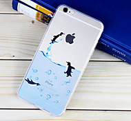 Penguin Pattern TPU Material Soft Phone Case for iPhone 6/6S
