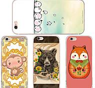 maycari® liebende Tiere transparente TPU Tasche für iPhone 6 / iphone 6s