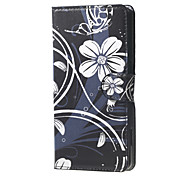 White Flowers  Magnetic Leather Wallet Handbag Book Cover Case For Flip Huawei ascend G7