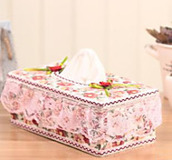 Square cloth art tissue box