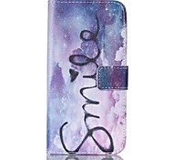 EFORCASE® Smiling Star Painted PU Phone Case for Galaxy S6edge/S6/S5/S4/S3/S5mini/S4mini/S3mini