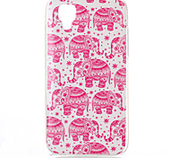 The elephant Pattern TPU Phone Case for Wiko Sunset