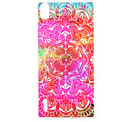 Red Flowers Pattern TPU Material Back Cover for Huawei P7