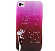 Dandelion Pattern TPU Case for iphone 4G/4S