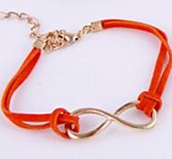 New Fashion Jewelry Orange Leather Cord Bangle Bracelet