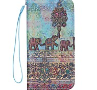 iPhone 7 Plus Elephant Pattern high Quality Wallet Hand Rope Section Phone Case for iPhone 6/6S