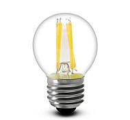 1 шт. E14 / e12 / e26 / e27 4w 4cob 380lm теплый белый g45 диммируемые светодиодные лампы накаливания переменного тока 110-240v