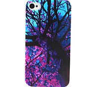 Purple Flower Tree Painting Pattern TPU Soft Case for iPhone 4/4S