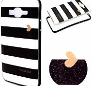 2-in-1 Black And White Case Pattern TPU Back Cover + PC Bumper Shockproof Soft Case For Samsung G530H