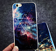 Star Hexagram No Can But Will Blue Light Reflective Blu-ray Soft TPU Case Cover for iphone 6/6s