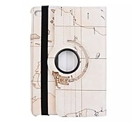 Map Style Solid Color PU Leather 360⁰ Case with Stand for iPad Mini 4 (Assorted Colors)
