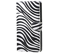 Zebra Stripes Wallet Leather Stand Case for  Microsoft Nokia Lumia 950 N950