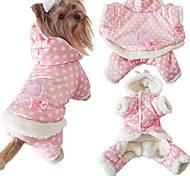 Dog Coats / Hoodies - S / M / L / XL - Winter - Pink / Beige - Cosplay - Cotton