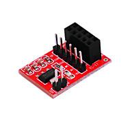 módulo sem fio nRF24L01 + 2,4 g rf / comunicação / industrial-grade - vermelho