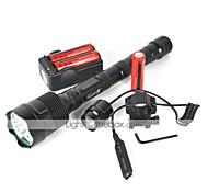 5 Светодиодные фонари LED 4800 Люмен 5 Режим Cree XM-L T6 Да Ударопрочный Перезаряжаемый Водонепроницаемый Экстренная ситуация ударный
