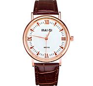 Men's Leather Band Quartz Wristwatch