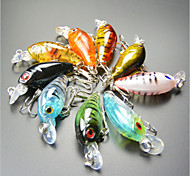 "9 pcs Isco Duro / Iscas Manivela Multicolorido 4 g/1/8 Onça,45 mm/1-3/4"" polegada,Plástico DuroPesca de Mar / Pesca Geral / Pesca de Isco"
