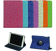 Palace Flower 360 Degree Rotating  PU Leather Full Body Case with Stand for iPad Mini 3/2/1(Assorted Colors)