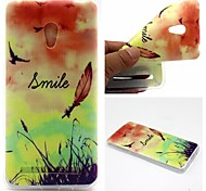 Smiling Face Feathers Words Phrase Pattern 0.6mm Ultra-Thin Soft Case for Zenfone5 Lite