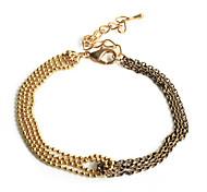 Europestyle Fashion Double Row Chain Joint Alloy Bracelet