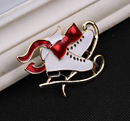 Fashion  Ice Skates Brooch