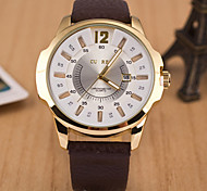 L.WEST Men's Marble Mirror Calendar Quartz Watch