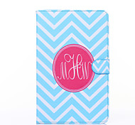 Blue and White Anchor Pattern PU Leather Full Body Case with Stand for Galaxy Tab E 9.6 T560