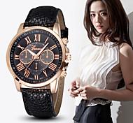 Mulheres Relógio de Moda Quartz PU Banda marca-