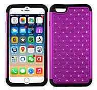 Silicone+ PC Gypsophila Diamond Stars Silicon Cover Cases For Apple iPhone 6 Plus/6S Plus Case