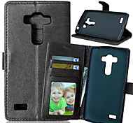 High Quality PU leather Wallet Mobile Phone Holster Case For LG G4S(Assorted Color)