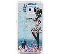 Girl Flow Sand PC Material Cell Phone Case for Samsung Galaxy S6/S6 edge