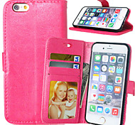 High quality PU leather wallet mobile phone holster Case For iPhone 6/6S(Assorted Color)